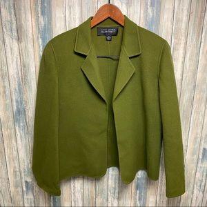 Ellen Tracy Wool Jacket sz 16 Open Front